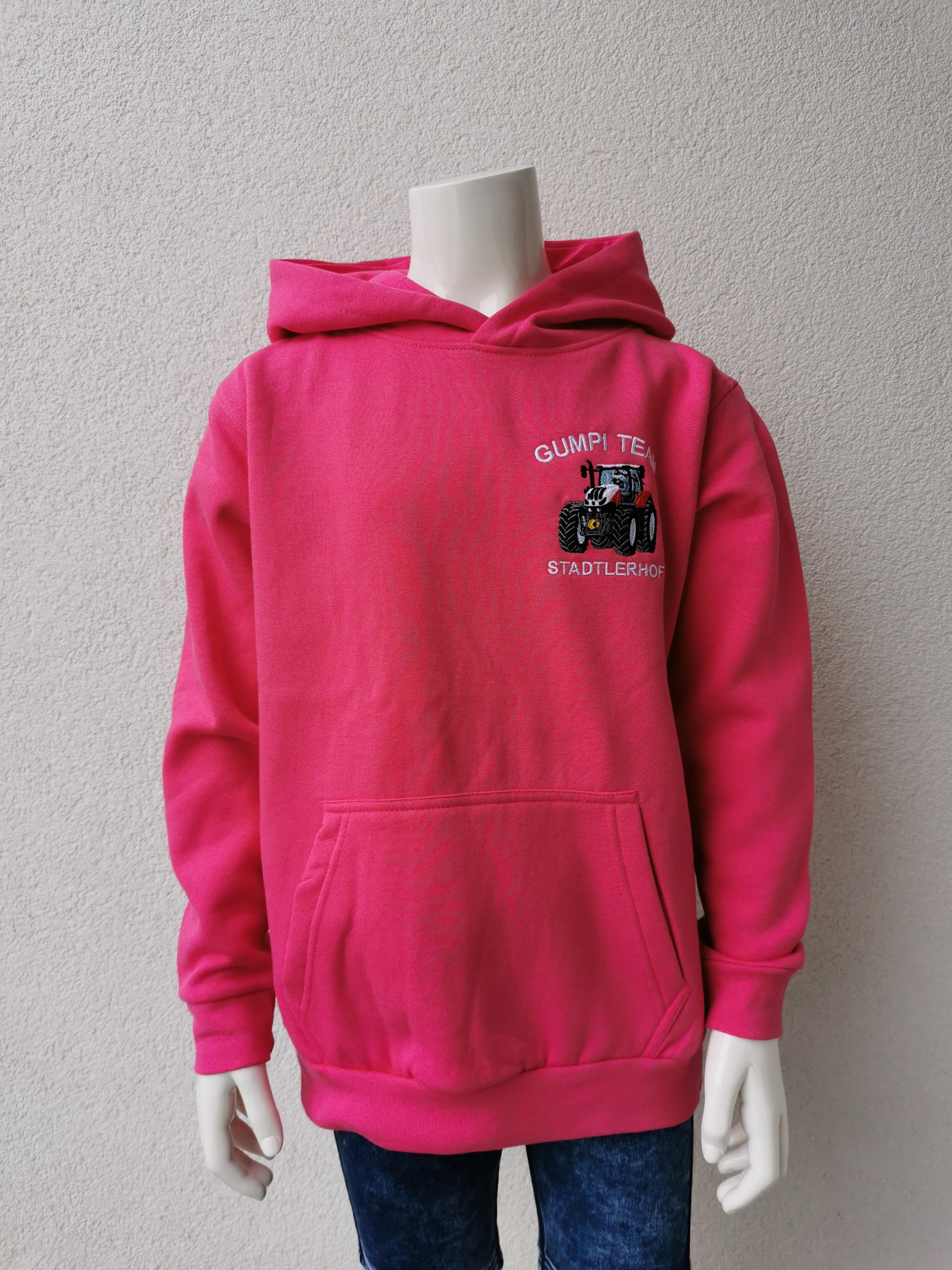 """Kinder Sweater  mit Kapuze """"Gumpi-Team"""""""
